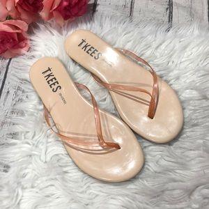 Tkees Sheers Orange Clear Flip Flop Sandals